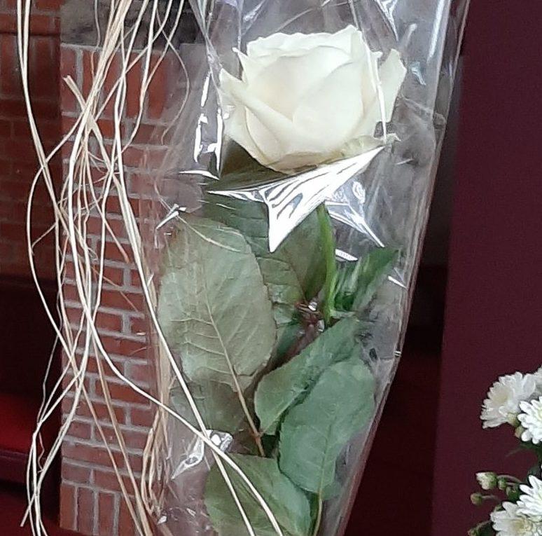 20201101 Witte roos ten teken van nieuw leven